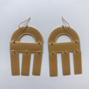 Madewell yellow earrings